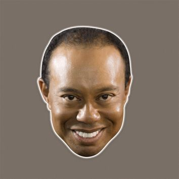 Excited Tiger Woods Mask - Perfect for Halloween, Costume Party Mask, Masquerades, Parties, Festivals, Concerts - Jumbo Size Waterproof Laminated Mask