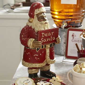 Carved Wood Santa