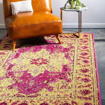 5152 Pink Distressed Oriental Area Rugs