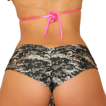 Camouflage Basic Pole Dancers Booty Shorts