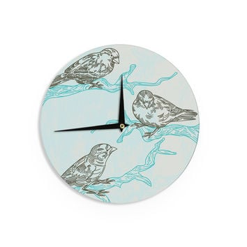 "Sam Posnick ""Birds in Trees"" Wall Clock"