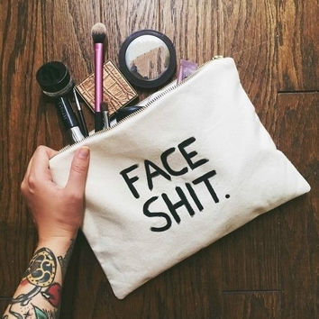Face Shit Cosmetic Travel Bag