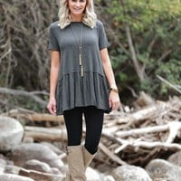 Time Changes Ruffle Top