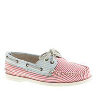 Sperry Top-Sider For J.Crew Authentic Original 2-Eye Boat Shoes In Seersucker