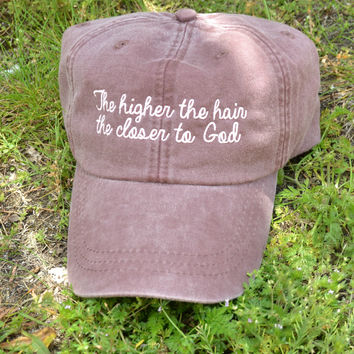 Higher The Hair Hat - Faded Plum