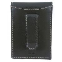 Timberland Black Pull-Up Front Pocket Money Clip Wallet