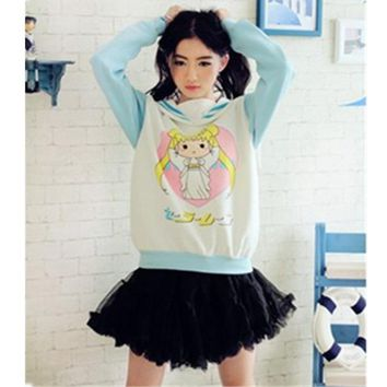 Japanese Kawaii Clothes Anime Hoodie Harajuku Sweatshirt Cute Hoodies Women Sailor Moon Shirt Poleras De Mujer