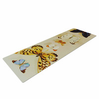 """Chelsea Victoria """"The Butterfly Collection"""" Photography Blue Yoga Mat"""