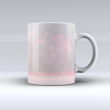 The Muted Pink and Grunge Shimmering Orbs ink-Fuzed Ceramic Coffee Mug
