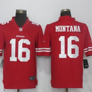 Nike San Francisco 49ers 16 Montana Red 2017 Vapor Untouchable Limited Player
