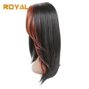 Royal Brazilian Non-Remy Human Hair Wigs Long Hair Whole Machine Wig For Black Women #33 Color 14Inches