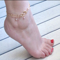 Jewelry Sexy Ladies Stylish Shiny Cute Gift New Arrival Hot Sale Infinity Simple Handcrafts Set Anklet [6768773959]