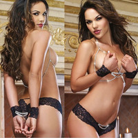 European and US ladies Black sexy lingerie (Size: M, Color: Black) = 1932274244