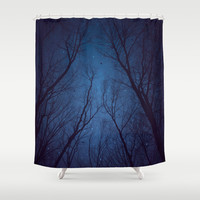 I Have Loved the Stars to Fondly (Night Trees Silhouette Abstract 2) Shower Curtain by soaring anchor designs ⚓ | Society6