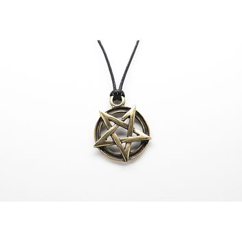 Pentagram Unisex Necklace with Rope