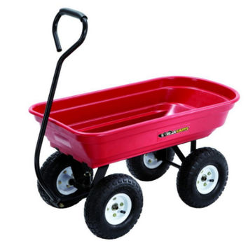 Gorrila Carts 400 lb. Poly Yard Wagon Sturdy 10 In. Home and Garden Use