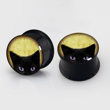 Black Cat Ear Gauges