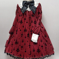 Holy Lantern One Piece - Wine [162PO03-030041-wi] - $310.00 : Angelic Pretty USA