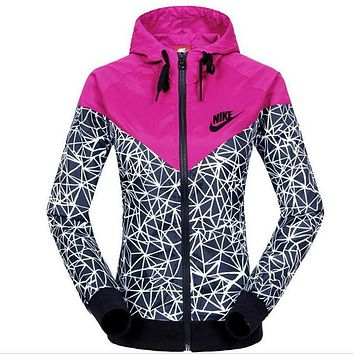 nike fashion hooded sweatshirt zipper cardigan coat jacket