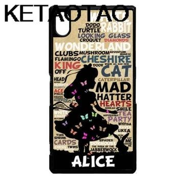 KETAOTAO Alice in wonderland words Phone Cases for iPhone 4S 5C 5S 6S 7 8 Plus XR XS MaxR X Case Soft TPU Rubber Silicone