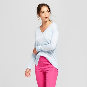 Women's V-Neck Luxe Pullover Sweater - A New Day™