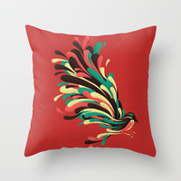 Avian Throw Pillow by Jay Fleck