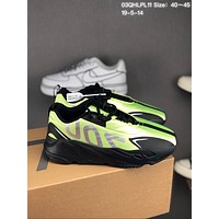 HCXX 19July 135 Adidas Yeezy Boost 700 VX Retro Casual Sneakers black green sliver
