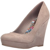 Madden Girl Womens Valia Faux Suede Wedge Pumps