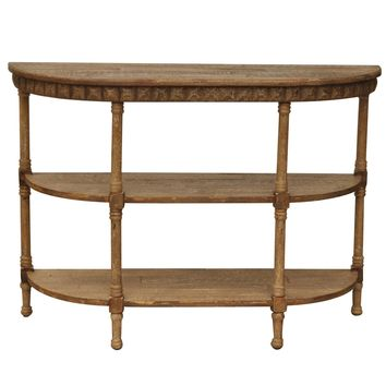 Rustic Cheyenne Demilune Console By Crestview Collection Cvfzr707