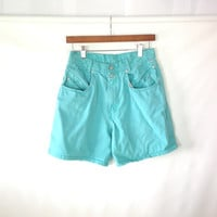Vintage JORDACHE Denim Shorts High Waist Denim Shorts Shorts High Waisted Shorts Colored Denim 27 s small