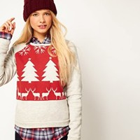 ASOS Sweatshirt with Christmas Fairisle Print at asos.com