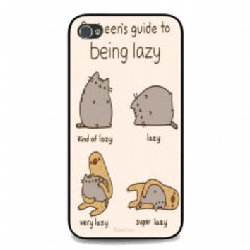 Pusheen's Lazy for iphone 4 and 4s case