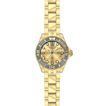 Invicta 19822 Women's Pro Diver Gold Dial Yellow Gold Steel Dive Watch