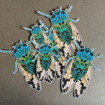 cicada sticker - one vinyl sticker