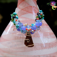 Fancy Sea Glass Jewelry from Hawaii for Beach Brides & Island Weddings, Hawaiian Necklace by Mermaid Tears