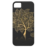 Cute Retro Gold Tree Abstract iPhone 5 Cases from Zazzle.com