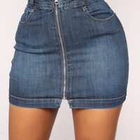 Monroe Denim Skirt - Dark