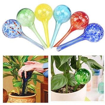 WCIC 100ml Automatic Plant Waterer Glass Drip Irrigation Drip Watering Device Bonsai Irrigation Tools for Planting In The Garden
