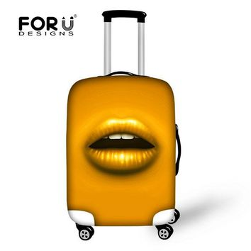 3D Candy Color Lip Printing Travel Luggage Covers Available for 18-30 Inch Trolley Suitcase Waterproof Luggage Protective Covers