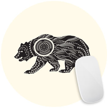 Ornate Bear Mouse Pad Decal
