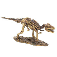 Running T-rex Skeleton Statue