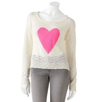 Heart N Crush Slubbed Sweater - Juniors