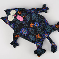 Unique handmade cat pillow fabric toy interior decoration present for kids