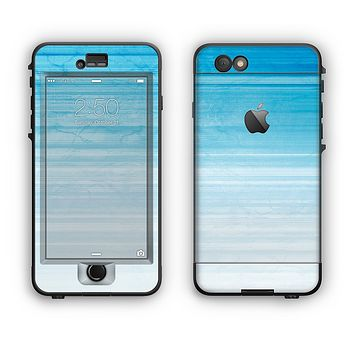 The Fading Light Blue Streaks Apple iPhone 6 LifeProof Nuud Case Skin Set