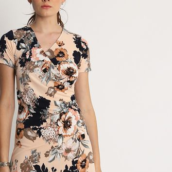 Carole Floral Faux Wrap Dress | Ruche