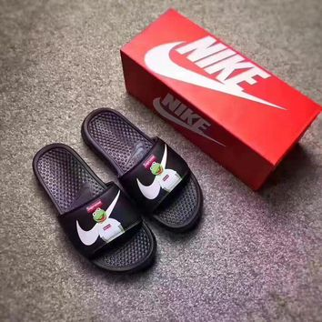 Best Online Sale Supreme x NIKE Frog Flip Flop Sandals Men Women Black Slipper