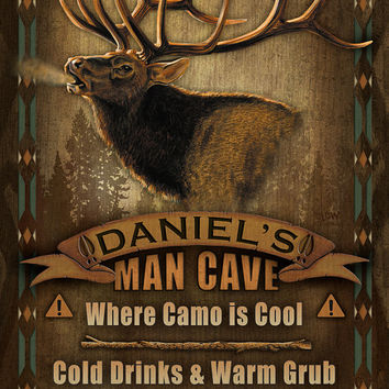 Man Cave Collection / Poster / Sign / Elk - Perfect gift for the Hunters in Your Life!