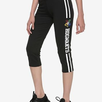 Harry Potter Hogwarts Crest Girls Active Capris