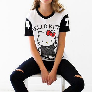 Hellz Bellz x Hello Kitty HI HELLZ White Tee