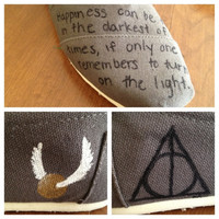 Harry Potter Inspired Custom Painted TOMS